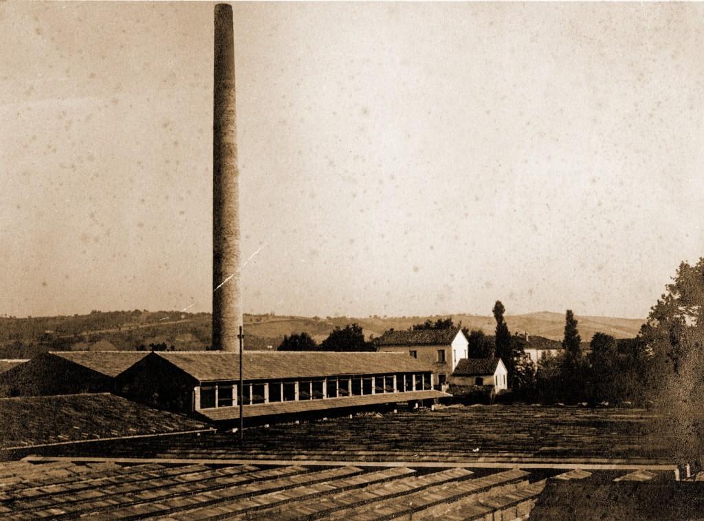 Un'immagine dello stabilimento della Fornace di San Michele, databile agli anni '40.