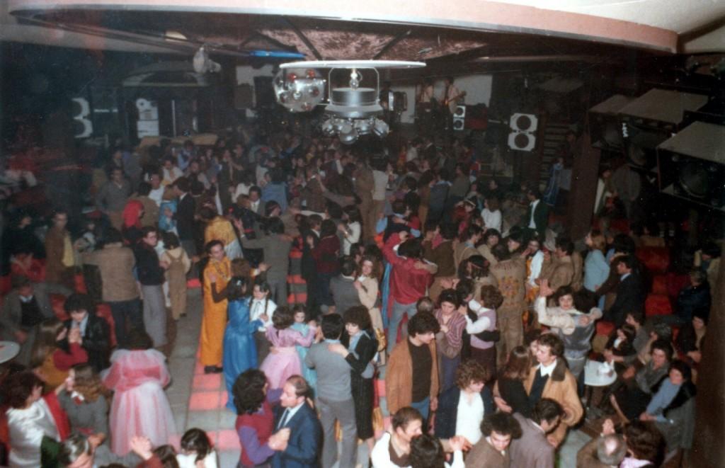 """S. Michele - La pista de """"El Sombrero 38"""" in occasione del Carnevale 1981"""