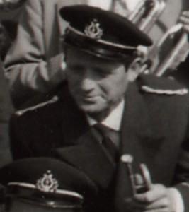 anni '60 - Luigi Gaiardi, con la tromba, in una foto della Banda di Mondavio