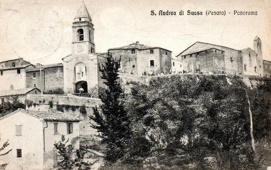 Sant'Andrea di Suasa in una cartolina degli anni '20