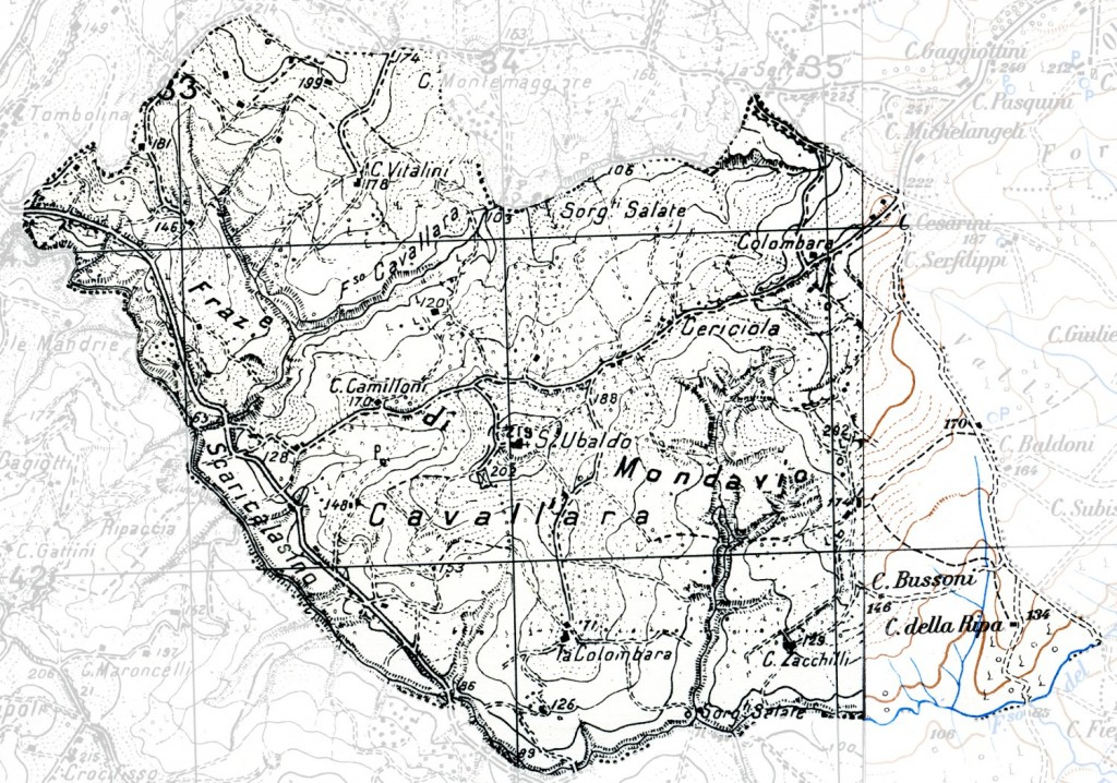 Mappa della zona 6 (Cavallara)