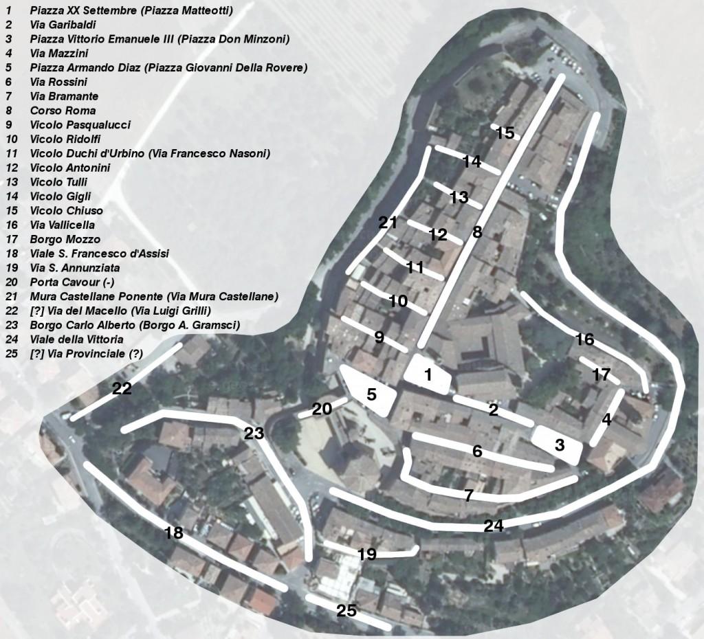 Mappa della zona 1 (Mondavio)