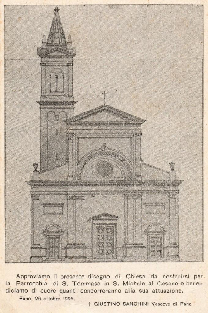 1925 - Disegno nuova chiesa