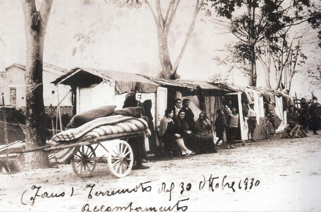 Terremoto del 1930: un accampamento a Fano