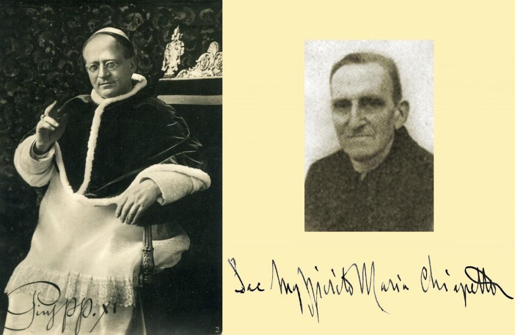 Papa Pio XI e mons. Spirito Maria Chiappetta, suo ingegnere e architetto di fiducia