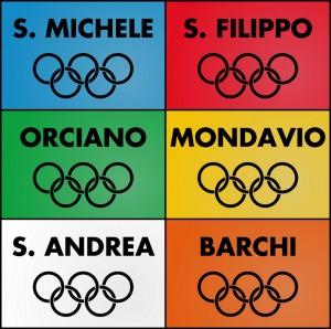 Le bandiere delle squadre che si sono sfidate nelle Olimpiadi 2013