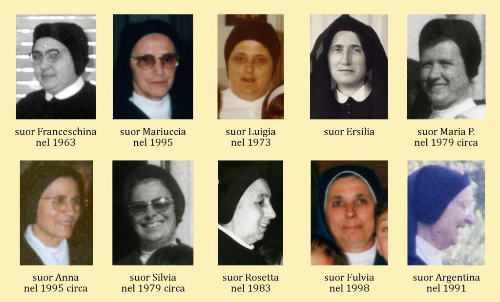"""Alcune foto delle """"nostre"""" suore. Puoi aiutarci a ricordare il volto delle altre di cui non si sono riuscite a reperire immagini? Contattaci!"""