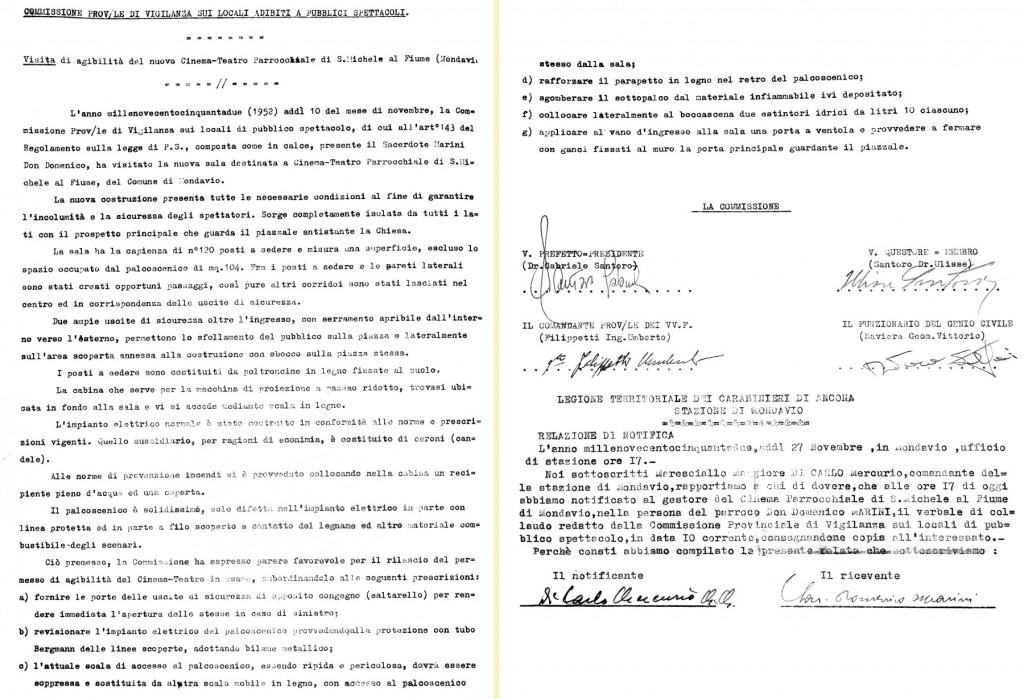 1952 - Visita agibilità