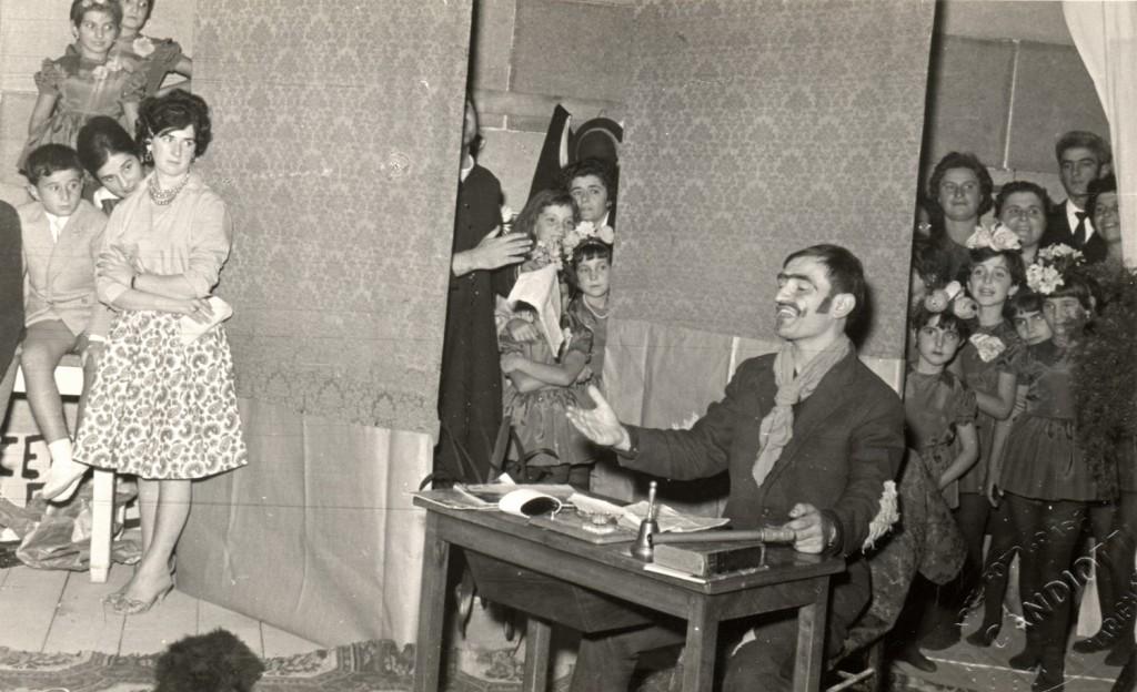 1959 - uno spettacolo teatrale al Cinema Cesano
