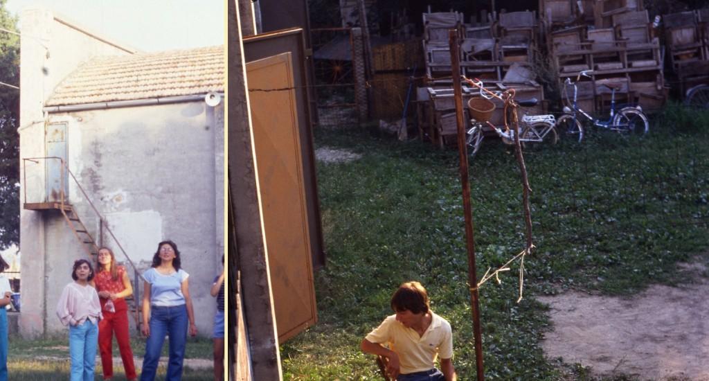 1990 circa - due foto scattate sull'esterno del Cinema, lato casa parrocchiale