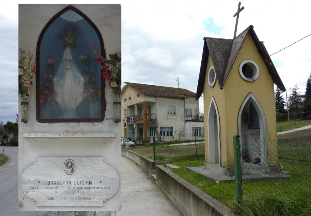 C - Pianaccio - Edicoletta dedicata a Luigina Branchini