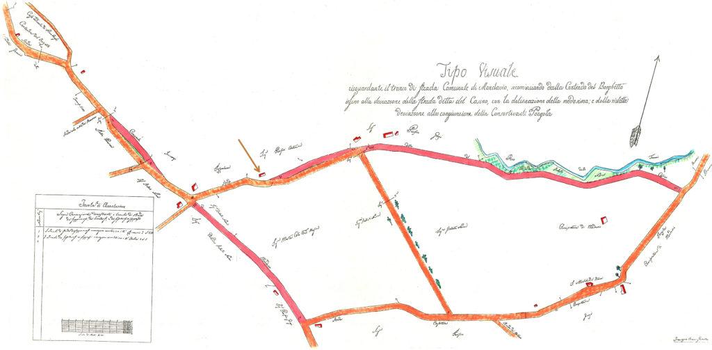 Mappa ottocentesca di San Michele