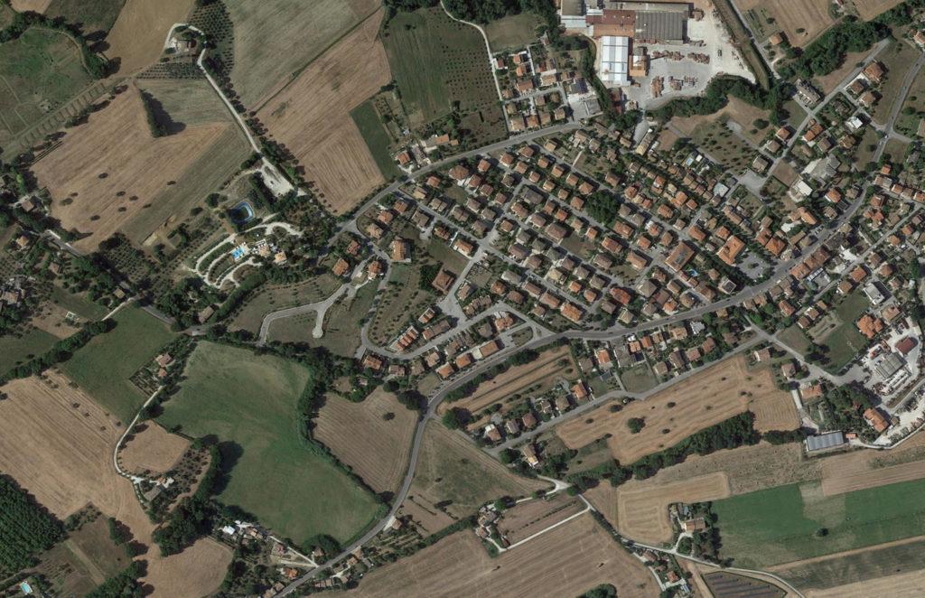 2018 - San Michele visto dal satellite