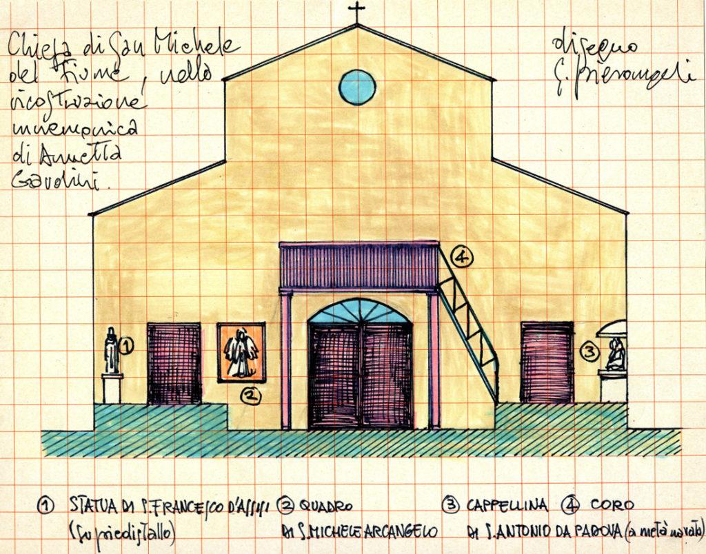 Interno dell'antica chiesa - lato portone