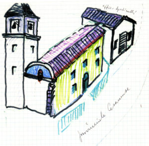 Ruderi di campanile, abside e vecchia canonica
