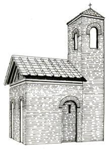 Ricostruzione ipotetica della cappella di Sant'Eleuterio