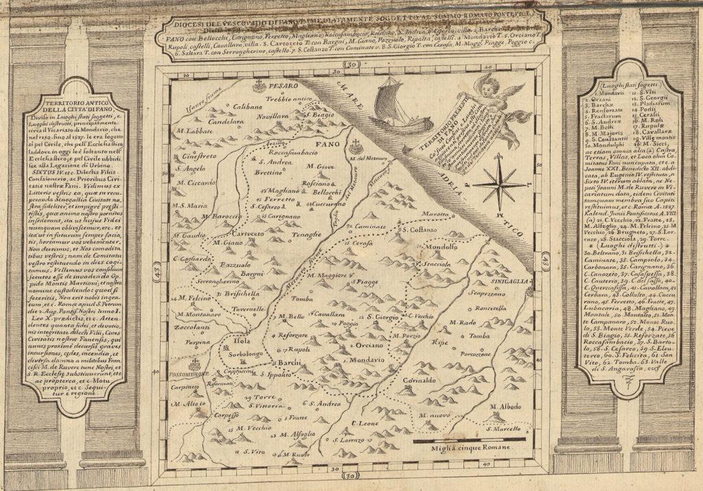 1764 - Territorio antico della città di Fano (Biblioteca Federiciana)