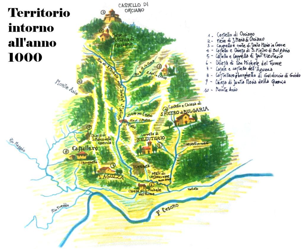 Territorio intorno al 1000 (campagne di Mondavio)