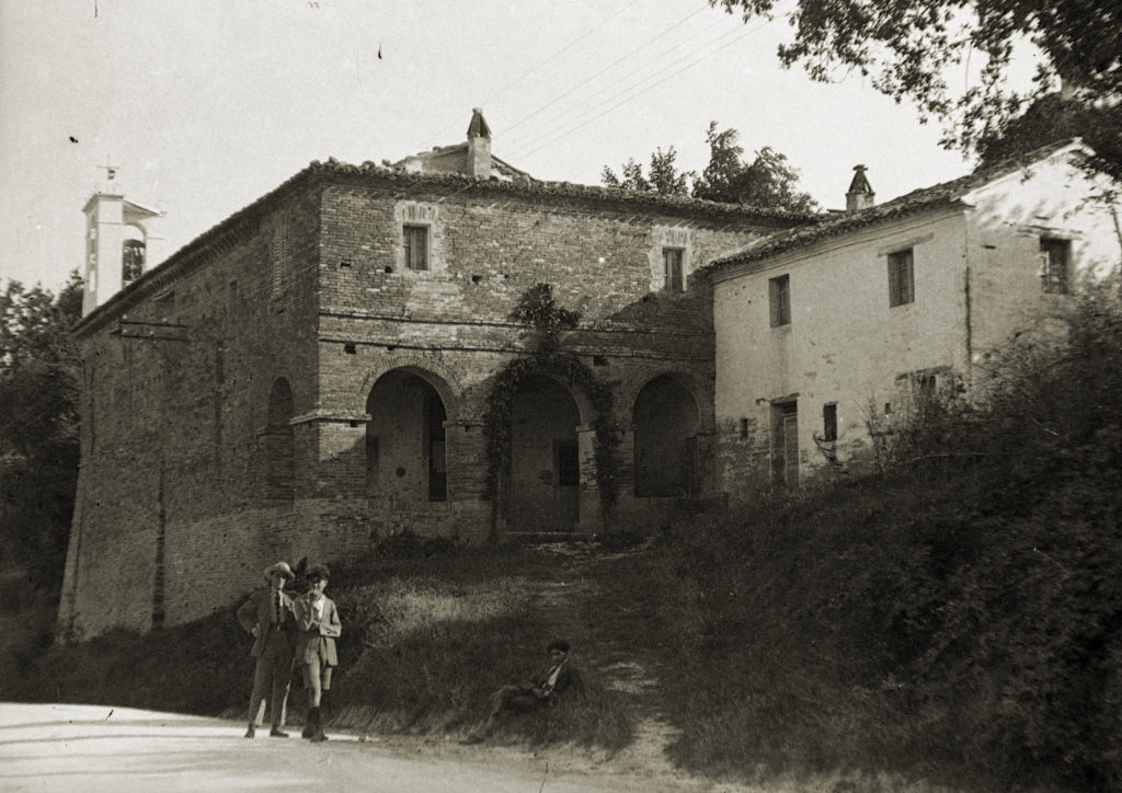 La chiesa di Santa Maria della Quercia negli anni '20