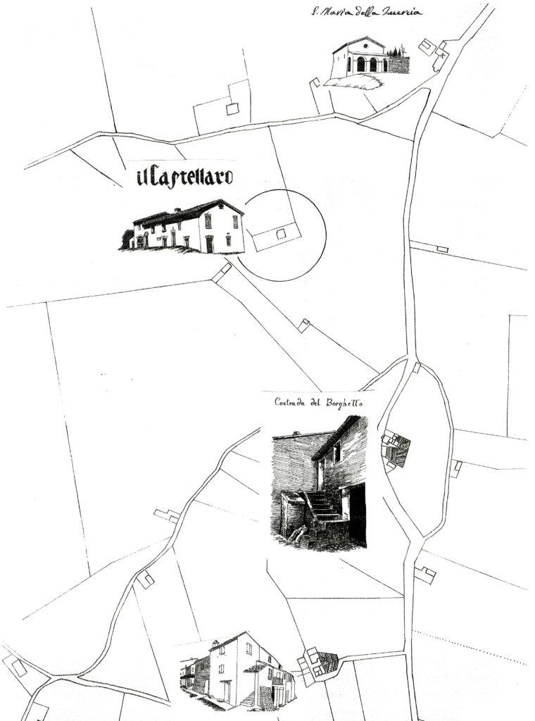 Cartina ottocentesca della zona tra Mondavio e San Michele
