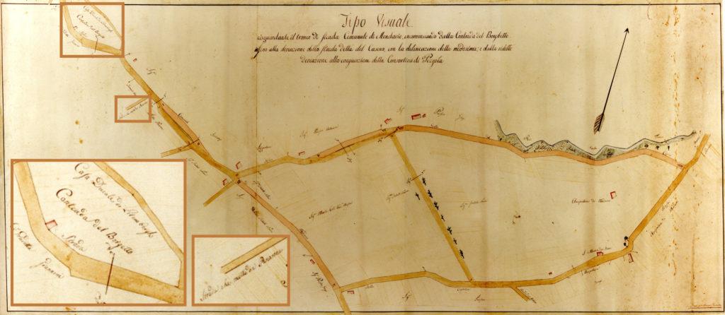 Il territorio di San Michele in una mappa ottocentesca
