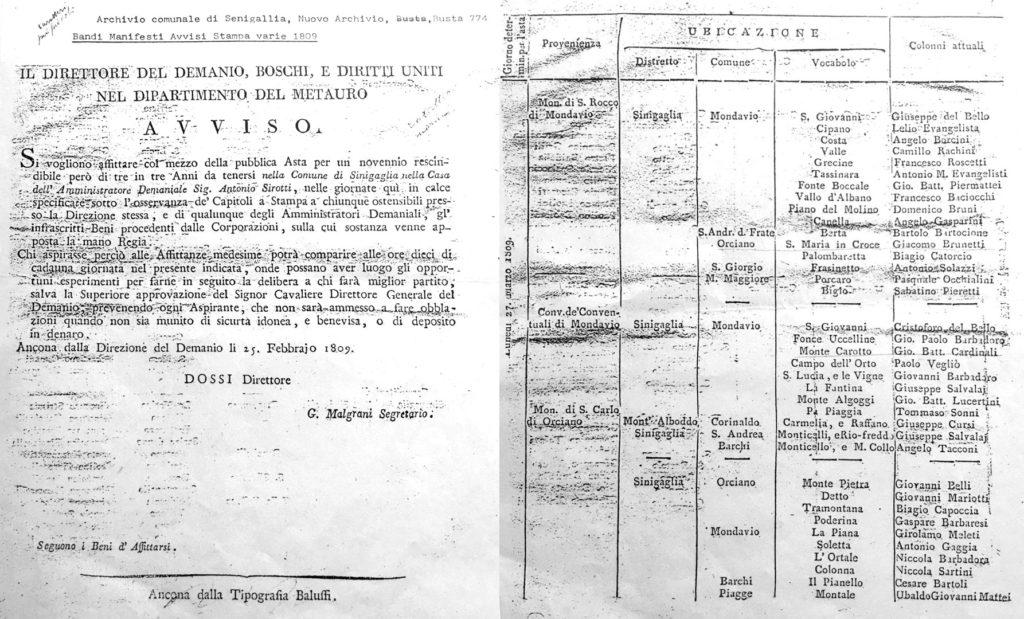 1809 - avviso di asta pubblica